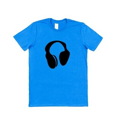 HEADPHONES T-SHIRT Music DJ Beats Recording Studio • 10.99£