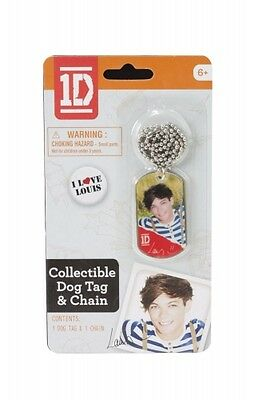 One Direction 1d Louis Dog Tag Chain Necklace Unisex Accessories Brand New • 7£