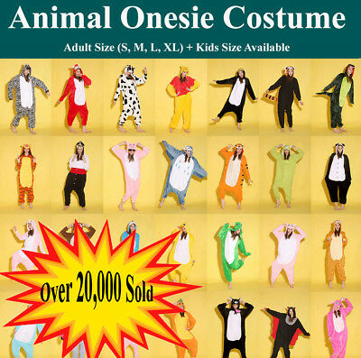 AU17.50 • Buy Adult Kids Fleece Unisex  Onesie Kigurumi Animal Pajamas Costume Sleepwear