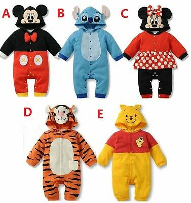 AU22.95 • Buy New Baby Boys Girls Animal Costume Romper One Piece Outfit Clothes Size 00,0,1