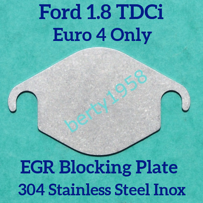 EGR Valve Blanking Plate Ford 1.8 TDCi Connect Focus Mondeo Galaxy Cmax Euro 4 • 3.79£