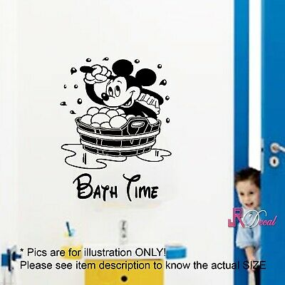 Mickey Mouse Wall Sticker, Bathroom Quote, Bathroom Stickers, Kid Wall Art, • 14.99£