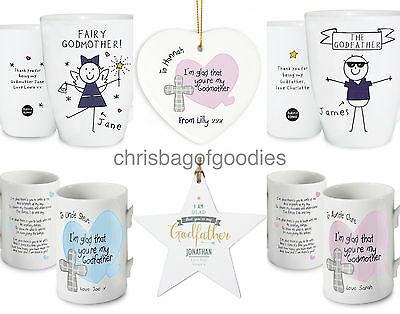 £12.99 • Buy Gifts For GODPARENTS GODMOTHER Keepsake Godfather Present CHRISTENING Our My