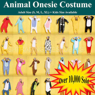 AU17.50 • Buy Kigurumi Adult Kids Unisex  Animal Onesie Costumes  Pajamas Cosplay Sleepwear