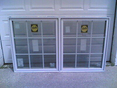 NEW (others): Nice PELLA Home Wood DOUBLE CASEMENT WINDOW W/ Grids 70  W X 42  H • 799.95$
