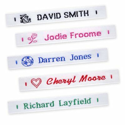 72 Woven Name Labels Sew In School Name Tags Tapes • 4.75£