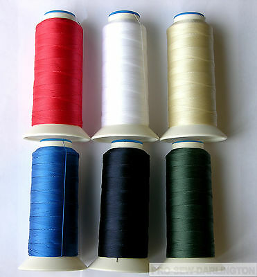 £7.99 • Buy NYLON STRONG HEAVY DUTY SEWING THREAD 40s ( CHOICE OF 13 COLOURS )