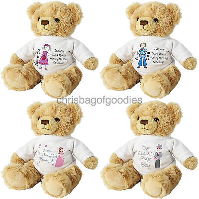 £18.50 • Buy TEDDY Thank You GIFT For My WEDDING Day Party Keepsake Pageboy Bridesmaid USHER