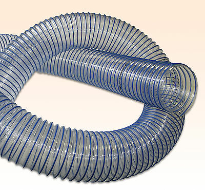 PU Flexible Dust & Fume Extraction Ducting Hose - Blue Spiral 0.6mm Thick Wall • 147.60£