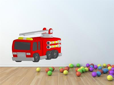 £15.95 • Buy Wall Art Sticker - Full Colour - Cute Kids Fire Engine, Rescue Vehicle