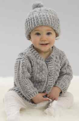Crochet Pattern-Baby Coat And Hat Pattern In DK-See Description Before Purchase • 1.99£