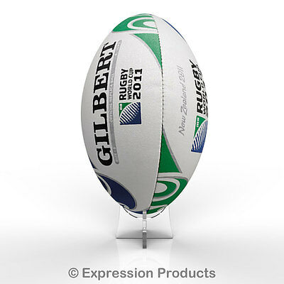Acrylic Rugby Ball Display Stand Holder For Signed Autographed Ball • 3.25£