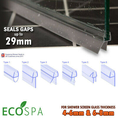 UNIVERSAL BATH & SHOWER SCREEN DOOR SEAL • High Quality Plastic Rubber • 900mm • 5.49£