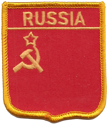USSR Soviet Union Russia Hammer And Sickle Flag Embroidered Patch Badge • 4.50£