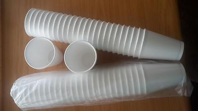 500 Polystyrene 7oz Insulated Foam Tea Coffee Dart Cups With LIDS 200cc • 25.95£