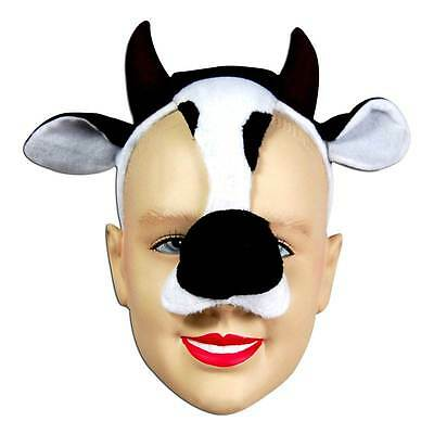 Cow Mask On Headband & Sound,    MASQUERADE EYE MASK, ANIMAL, FANCY DRESS • 6.99£