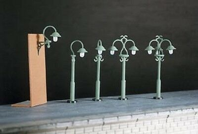 Ratio 453 - 9 X Swan-Necked Street Lamps 00 Gauge Non Working Kit 1st Class Post • 7.49£