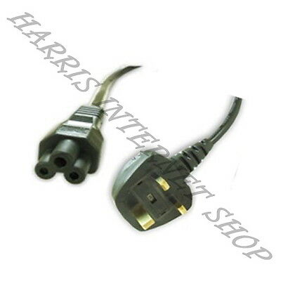 3 Pin UK (3 Prong Clover Leaf) Laptop Power Cable/Lead/Cord For Laptop Adapter • 3.98£