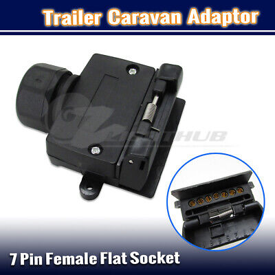 AU12.95 • Buy 7 Pin Female Flat Socket Plug Trailer Truck Adaptor Caravan Wiring Connector