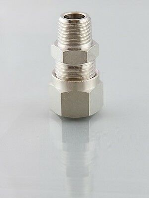 £2.59 • Buy Metric Compression Fittings Male Studs Bspt From 4mm To 15mm For Fuel Etc