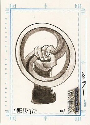 Xena Art & Images Sketchafex Steven Miller Sketch Card New Chakram Hand Drawn  • 17.60£