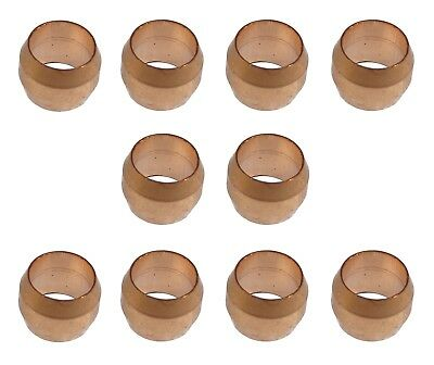 £3.49 • Buy 6mm Copper Olives (10 Pack) For Compression Plumbing Fittings
