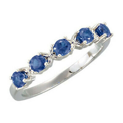 $75 • Buy 5 Round Birthstones Mothers Silver Stackable Ring, Mom's Family Jewelry Gift