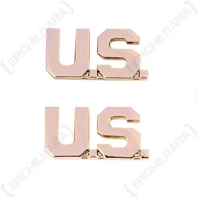 £9.45 • Buy US Army Officer US MONOGRAM BADGES American Military WW2 Repro Collar Insignia