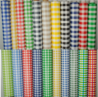 £6.97 • Buy WipeClean Tablecloth Oilcloth Vinyl PVC Gingham Check 140cm  Wide