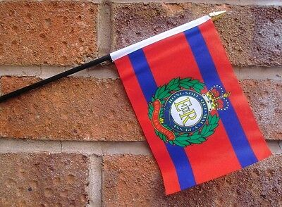 ROYAL ENGINEERS HAND WAVING FLAG Small 6 X4  With 10  Pole BRITISH ARMY MILITARY • 2.99£
