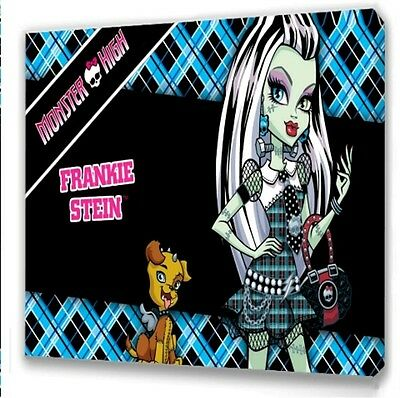 Monster High Frankie Stein  Kids Bedroom Canvas Picture  • 7.49£