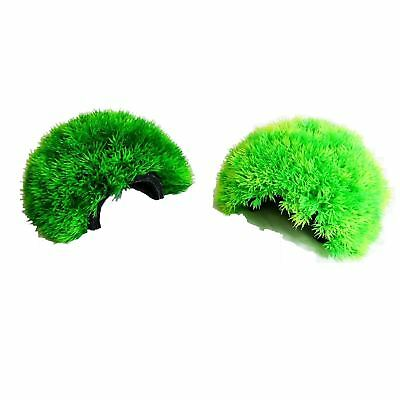 Aquarium Grass Ball Cave Artificial Plant Ornament Plastic Fish Tank Decoration • 7.95£