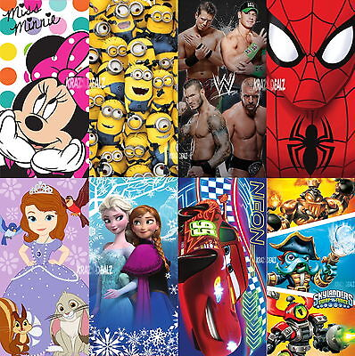 £8.99 • Buy Official Licensed Disney And Character Cotton Beach Towel Boys Girls Kids Gift