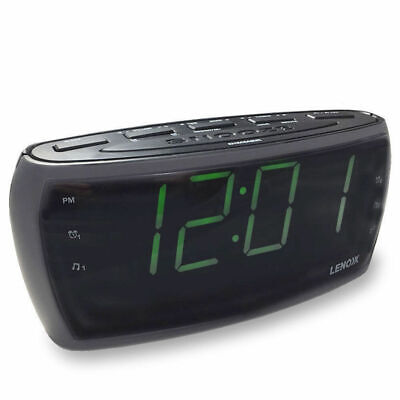 AU34 • Buy CR85 Alarm Clock Radio Digital LED AM FM/Aux In/Large Big Numbers Sight Impaired