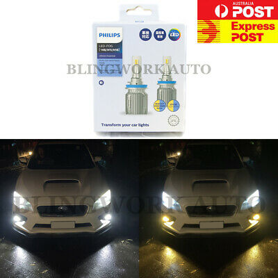 AU169.99 • Buy PHILIPS H8 H11 H16 WHITE & YELLOW Dual Colour CCT Switchback LED Fog Light Kit