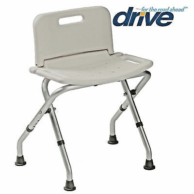 Folding Portable Aluminium Shower Bath Stool Seat With Or Without Back Rest • 21.99£