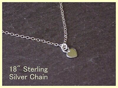 £6.59 • Buy Gorgeous Solid 925 Sterling Silver Tiny Heart Pendant Necklace 18  Trace Chain