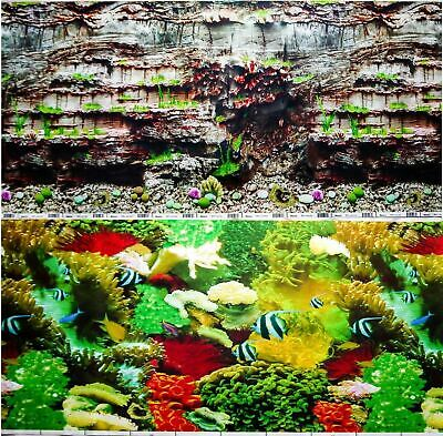 AU20.40 • Buy Aquarium Fish Tank Background Double Sided 19  / 50cm High - 2 To 10 FT Lengths