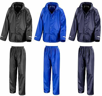 £10.70 • Buy Childs Waterproof Jacket And Trousers Rain Suit Set Kids Childrens Boys Girls