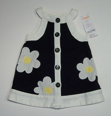 $28.95 • Buy NWT Gymboree Bee Chic 3-6 Months Black Daisy Flower Pique Mod Dress
