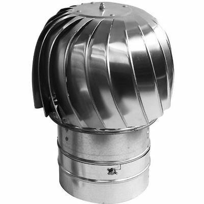 Chimney Flue Cowl Spinner Stainless Steel Plug-in Spinning Cowl 130mm-300mm • 209£