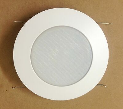 $43.49 • Buy 6 Pack 6  Inch Recessed Can Light Shower Trim Frosted Glass Albalite Lens White