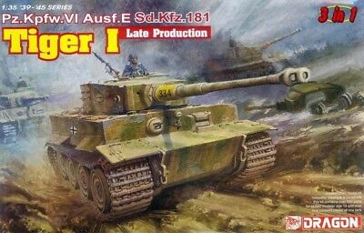 Dragon 6406 1/35(FULL Version)Tiger I Late Production Sd.Kfz.181  (3 In 1) • 38.50£