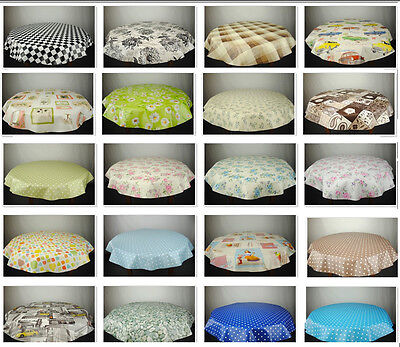 Round Wipe Clean Tablecloth - PVC Oilcloth - Many Designs & Sizes • 12.97£