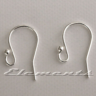 £8.99 • Buy Solid Sterling .925 Silver Earring Ear Wires Fish Hooks French Fittings SF101