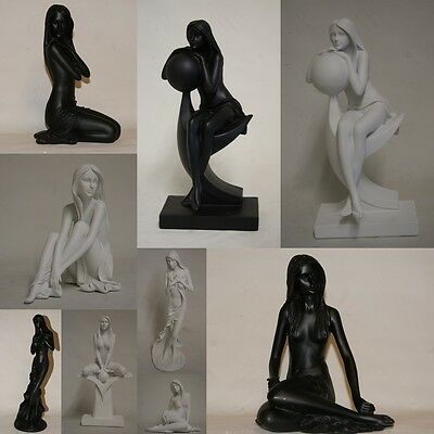 £22.99 • Buy Modern Black Or White Nude Lady Figurines Statues By Leonardo Collection