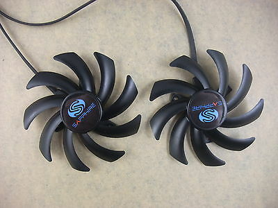 85mm Sapphire HD7870 7950 7970 Dual-X Fan FD7010H12S Instead Of FDC10H12S9-C3020 • 9.74£