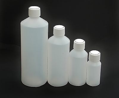 Plastic Bottles HDPE,  Screw Cap, FREE Shipping, Various Sizes Available • 5.95£