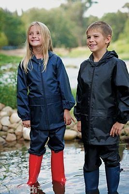 Childs Regatta Stormbreak Waterproof Jacket & Trousers Set Suit Boys Girls Kids • 14.99£