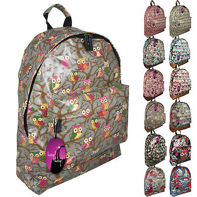 Backpack Bag Ladies Girls Print Rucksack Gym School College Campus Travel UK  • 8.99£